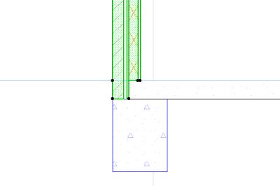 Узел перекрытие-фундамент-многослойная стена