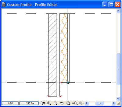 Поднимаем нижнюю пунктирную линию (Stretch Lines)в начало координат