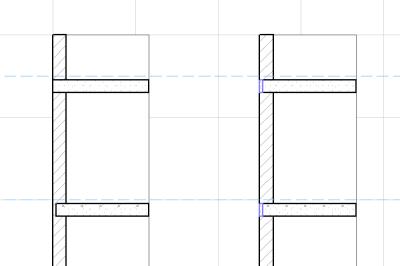 Рис. 2. Разрез многоэтажной стены и перекрытий