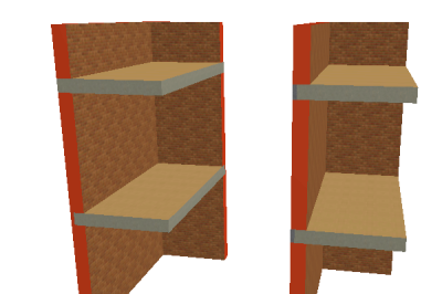 Рис. 3. Пересечение одноэтажных стен с перекрытиями