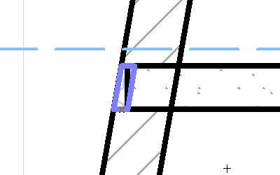Построим перекрытия, подводя грань к грани наклонного куска