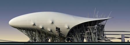 Проект-победитель в номинации СЮР-экстерьер Автопаркинга со станцией технического обслуживания